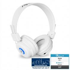 Căști Auna DBT - 1 Bluetooth baterie handsfree albe