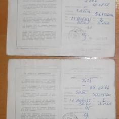 ABONAMENT RADIO - TV - PERIOADA COMUNISTA - ANII 80 - LOT 2 BUCATI