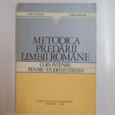 METODICA PREDARII LIMBII ROMANE, CURS INTENSIV PENTRU STUDENTI STRAINI de VASILE SERBAN, LILIANA ARDELEANU, 1980 - Carte Sociologie