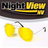Ochelari Stil Pilot de Condus Noaptea si pe Ceata cu Protectie UV