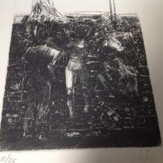 Gravura, Adam&Eva - Tablou autor neidentificat, Scene gen, Cerneala, Altul