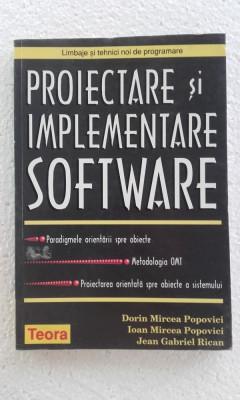 Proiectare si implementare software - DORIN M. P , IOAN M. P , JEAN G RICAN foto