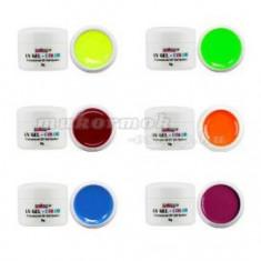Set geluri colorate neon – 6 buc. - Gel unghii