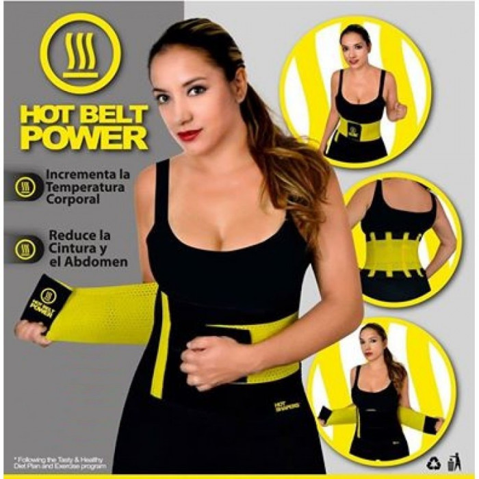 Centura de Slabit Hot Shapers Hot Belt Power cu Efect de Sauna
