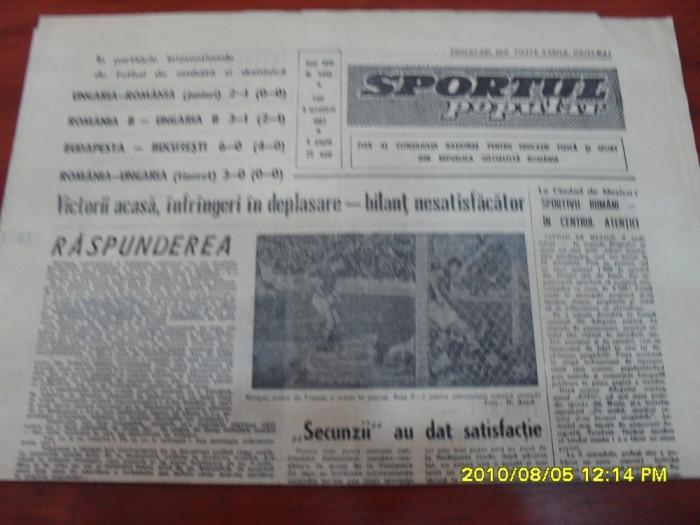 Ziar    Sportul popular      9  10 1967 foto mare