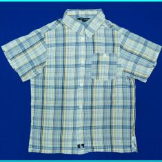 DE FIRMA → Camasa bumbac, maneca scurta, H&M → baieti | 8 - 9 ani | 128-134 cm, Marime: Alta, Culoare: Albastru
