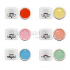 Set geluri colorate pastelate – 6 buc. - Gel unghii