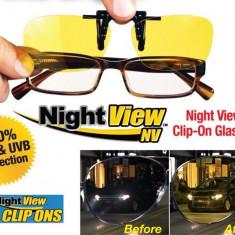 Lentile Night View Clip Ons de Condus Noaptea si pe Ceata cu Protectie UV