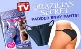 Lenjerie Intima Brazilian Secret cu Efect de Push Up, Alb, Negru, Marime universala, One size