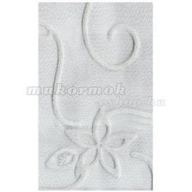 Plasă decorativă pentru unghii – argintie cu model alb foto mare