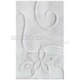 Plasa decorativa pentru unghii ? argintie cu model alb foto mare