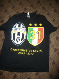 Tricou al Echipei Juventus Torino - Fotbal - Jubileu 31 Campionate ale Italiei, M, Negru