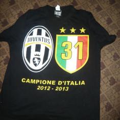 Tricou al Echipei Juventus Torino - Fotbal - Jubileu 31 Campionate ale Italiei - Tricou echipa fotbal, Marime: M, Culoare: Negru