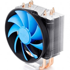 COOLER DEEPCOOL CPU, universal, soc LGA1366/115x/775 & FMx/AMx/940/939/754, Al+Cu, 3x heatpipe, fan 120x25mm, 130W - Cooler PC