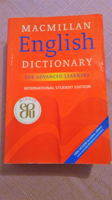 Macmillan English Dictionary for Advanced Learners.International Student Edition foto mare