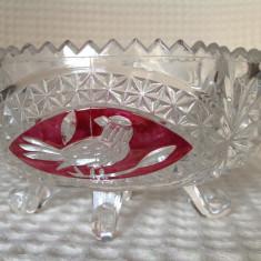 Cosulet retro din cristal - Arta din Sticla