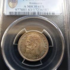 1 LEU 1906 - PCGS MS 63 - Moneda Romania, Argint