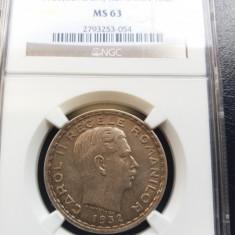 100 LEI 1932 - NGC MS 63 - Moneda Romania, Argint