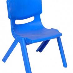 Scaun FIORE pentru copii din masa plastica culoare albastra Raki