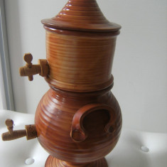 Deosebit samovar francez, vechi, marcat, din ceramica, stare perfecta, de colectie.