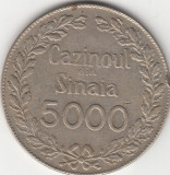 Jeton 5000 Cazinoul din Sinaia, seria 569