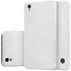HUSA NILLKIN QIN OnePlus X - BONUS FOLIE ECRAN - Husa Telefon Nillkin, Universala, Alb, Piele Ecologica
