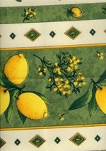 Fata de masa din franta 160x120cm Citron vert amande Raki foto