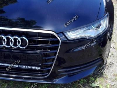 Set ornamente pleoape faruri Audi A6 C7 4G 2011-2014 Sline S6 Rs6 Abt ABS ver1 foto