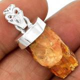 Pandantiv cu Kyanit portocaliu brut-Ag 925 - Pandantiv argint