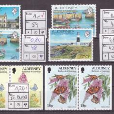 Alderney - lot timbre neuzate - Timbre straine
