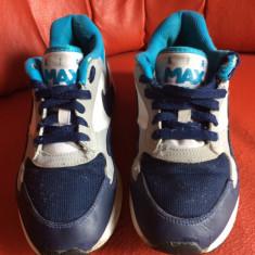 Nike Air Max originali, piele naturala+textil, marimea 37, 5-23, 5 cm. - Adidasi dama Nike, Culoare: Multicolor