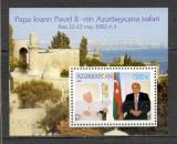 Azerbaidjan.2002 Vizita Papei Ioan Paul II-Bl.  SA.680