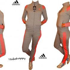 Trening Adidas pentru dama. - Trening dama Adidas, Marime: S, M, L, XL, XXL, Culoare: Gri, Bumbac