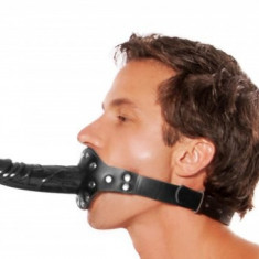 Mouth Gag Double Side Dildo Strap-On Fetish Bondage Calus Gura Piele Eco Regl.