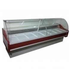 Vitrine frigorifice cu geam curbat producator vit-nic.ro MODEL V1C Lungime 2500 - Vitrina Frigorifica Alta