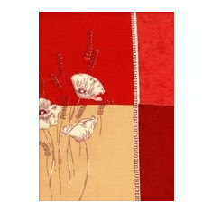 Fata de masa din franta 160x160cm Damier coquelicot bordeaux Raki