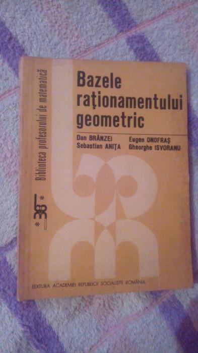 Bazele rationamentului geometric-Dan Branzei... foto mare
