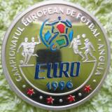 *  Moneda 100 lei 1996- color  - 1500 buc -EURO '96 -  argint  proof