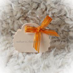Kit marturii nunta - somon/ portocaliu