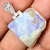 Pandantiv Moonstone brut-Ag 925 - Pandantiv argint
