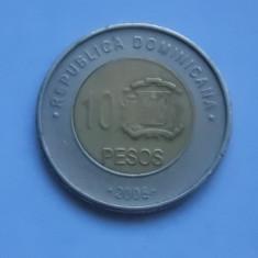 10 PESOS 2008 REPUBLICA DOMINICANA, America Centrala si de Sud