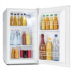 Klarstein MKS-6, 66 l, gri monoton, minibar, mini frigider, frigider de cameră, clasa de energie A, Independent, Numar usi: 2, Alb