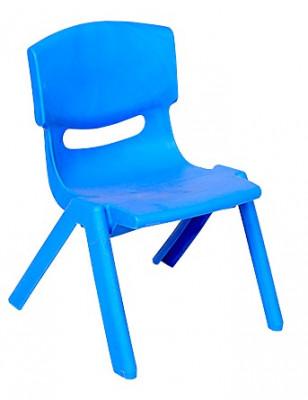 Scaun FIORE pentru copii din masa plastica culoare albastra Raki foto