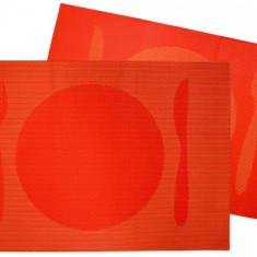 Suport servire masa PVC 30x45cm cu decor orange Raki