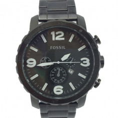 CEAS BARBATESC FOSSIL NATE CHRONOGRAPH BLACK-BRATARA METALICA-CALITATE PESTEPRET, Casual, Quartz, Inox, Data
