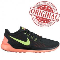 Nike Free 5.0 5V Black Volt Mango COD:724383012-Produs original,factura,garantie
