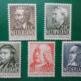 Olanda 1939 45 Euro cultura personalitati - serie nestampilata MNH