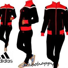 Trening Adidas pentru dama. - Trening dama Adidas, Marime: M, L, XL, XXL, Culoare: Negru, Bumbac
