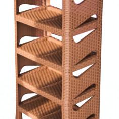 Raft pentru incaltaminte 5 etaje ratan culoare crem MN0133199 Raki - Pantofar hol