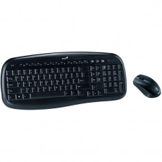 Kit tastatura si mouse Genius Wireless KB-8000X Black, Fara fir